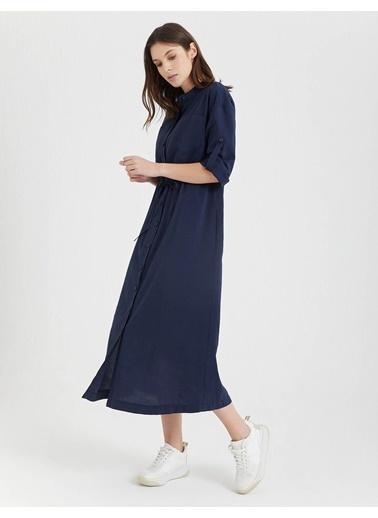 BGN Lacivert - Uzun Gömlek Elbise Lacivert